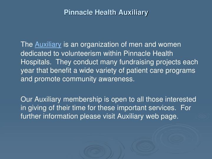 Pinnacle Health Auxiliary
