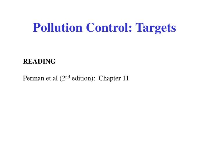 pollution control targets n.