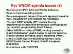 key wgcm agenda issues 2