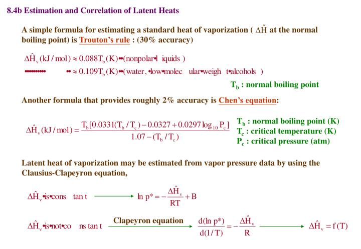 8.4b Estimation and Correlation of Latent Heats