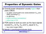 properties of dynamic gates1