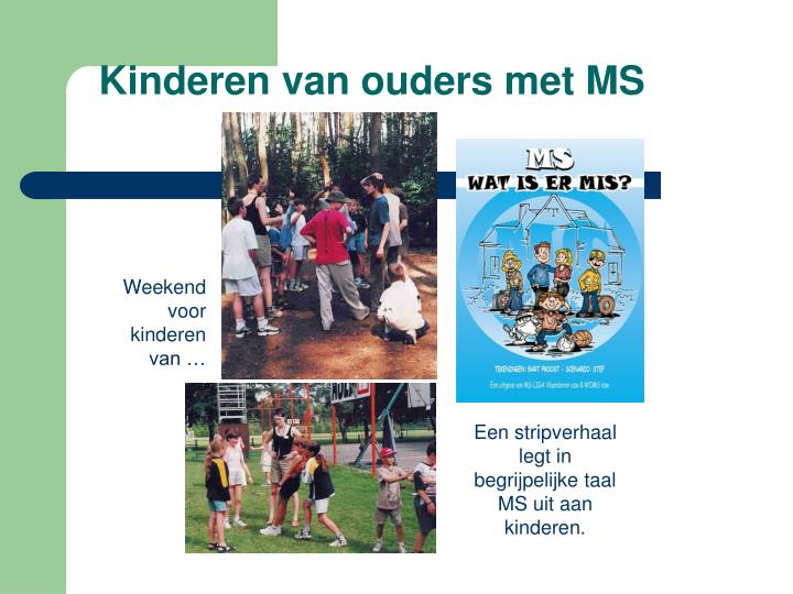 Kinderen van ouders met MS