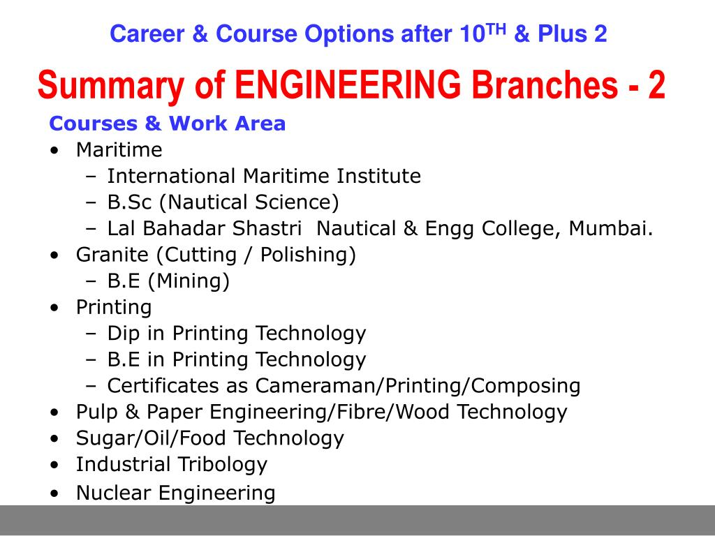 PPT - Career & Course Options after X & XII PowerPoint