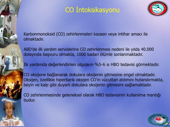 Karbonmonoksid (CO) zehirlenmeleri kazaen veya intihar amacı ile