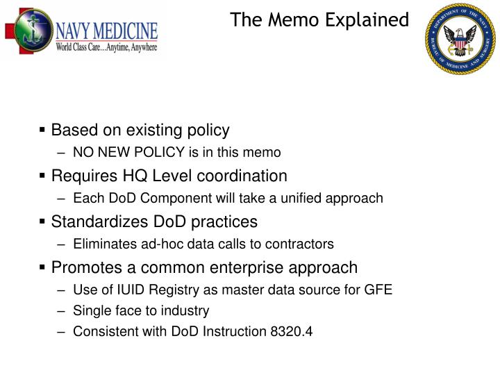 The Memo Explained
