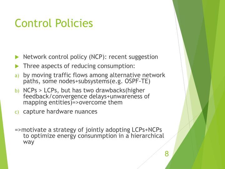 Control Policies
