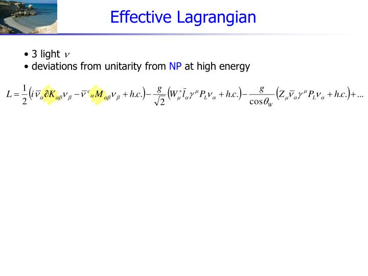 Effective Lagrangian