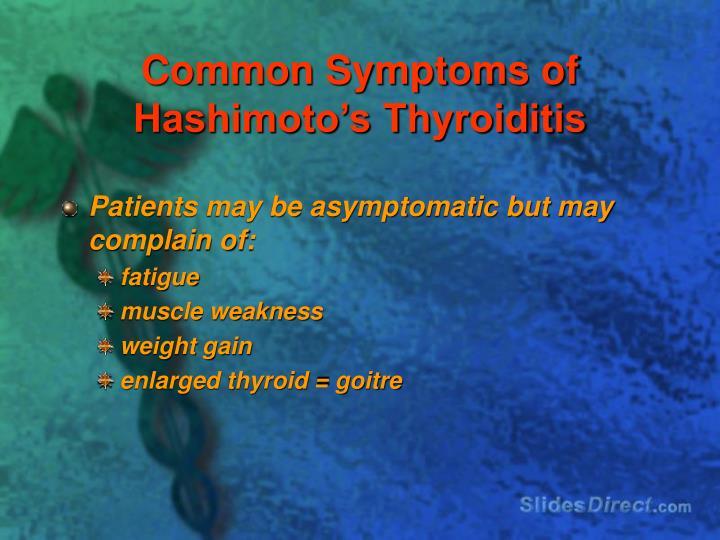 Common Symptoms of Hashimoto's Thyroiditis