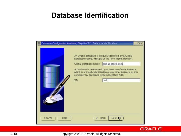 Database Identification