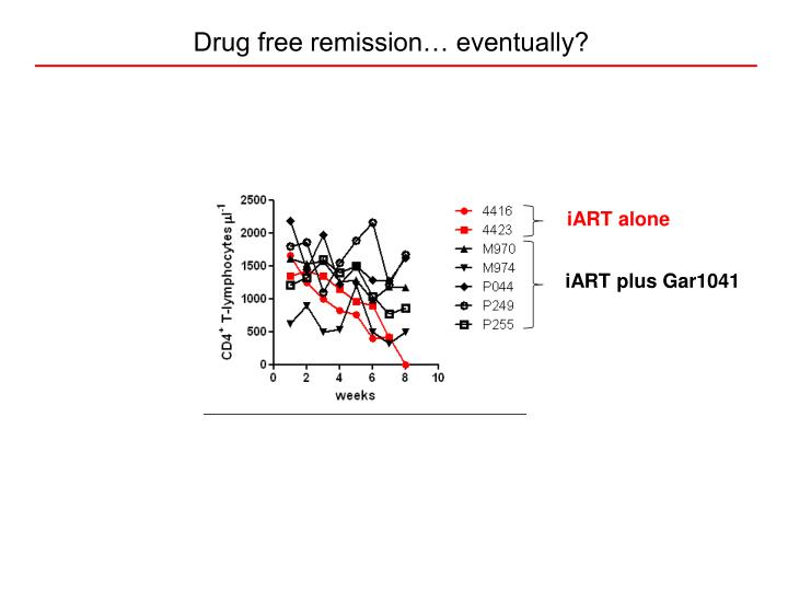 Drug free remission… eventually?