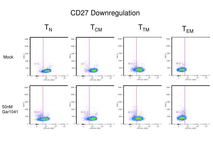 CD27 Downregulation