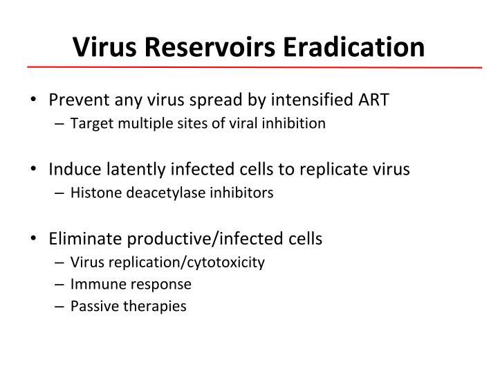 Virus reservoirs eradication
