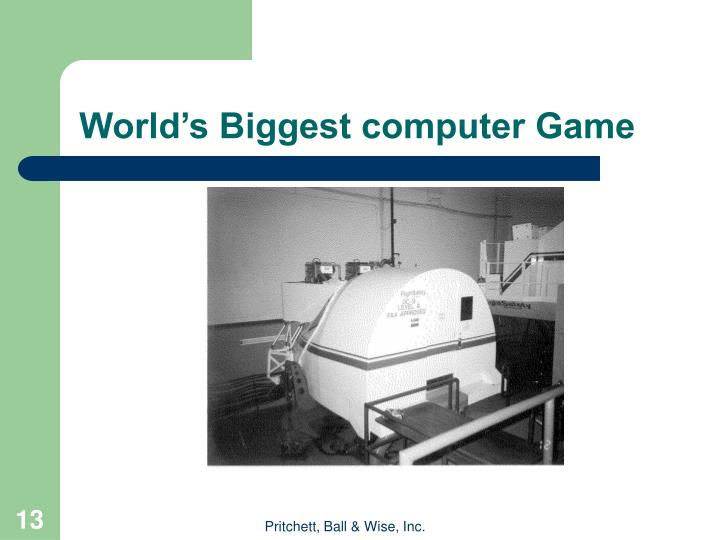 World's Biggest computer Game