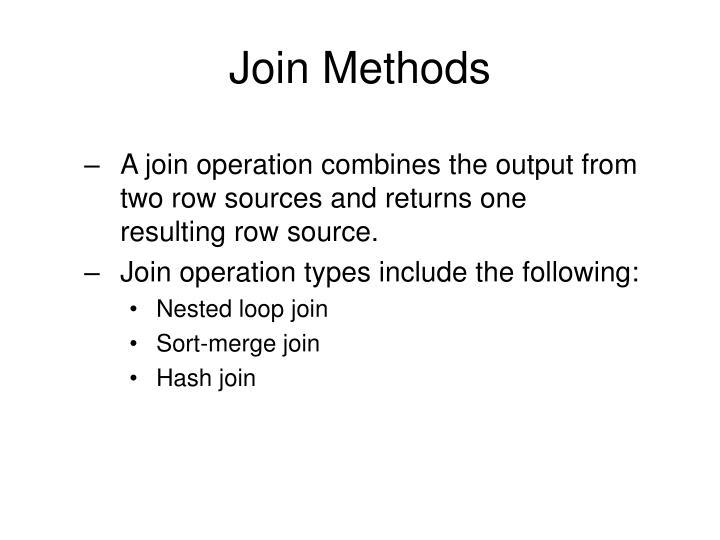 Join Methods