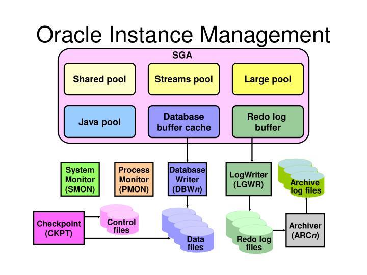 Oracle instance management