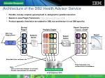 architecture of the db2 health advisor service