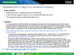 feedback from a major u s insurance company