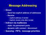 message addressing