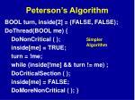 peterson s algorithm