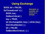 using exchange