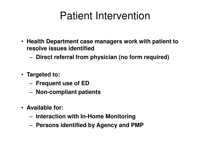 Patient Intervention