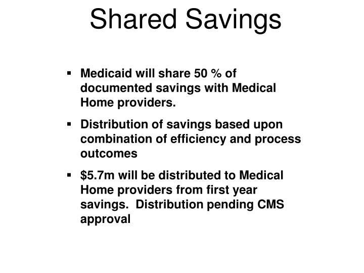 Shared Savings