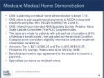 medicare medical home demonstration