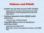 fallacies and pitfalls