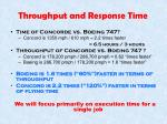 throughput and response time