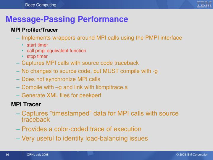 Message-Passing Performance