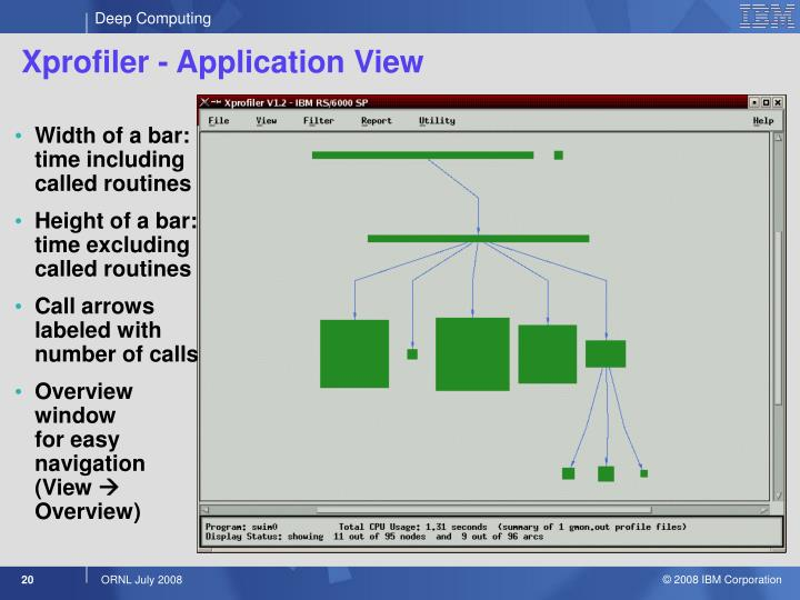 Xprofiler - Application View