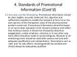 4 standards of promotional information cont d