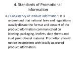 4 standards of promotional information