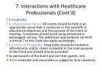 7 interactions with healthcare professionals cont d4
