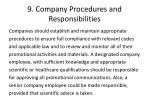9 company procedures and responsibilities