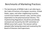 benchmarks of marketing practices