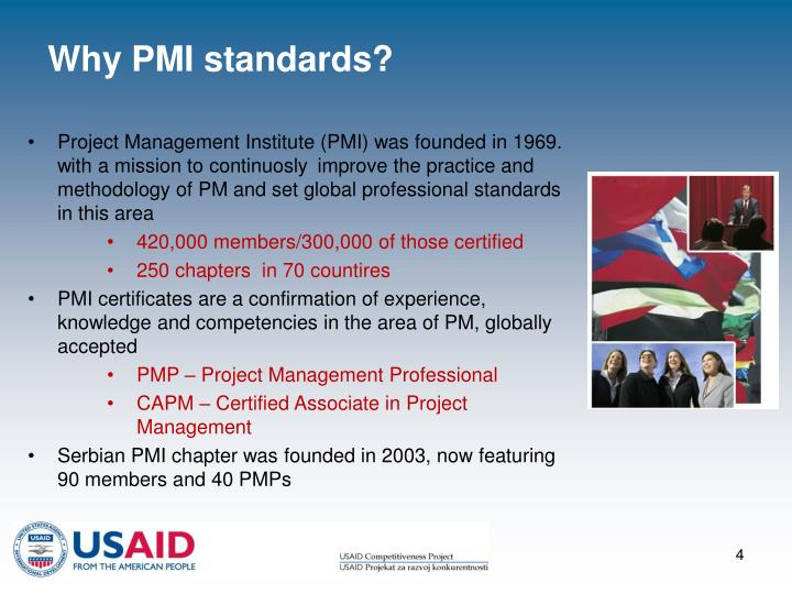 Why PMI standards?