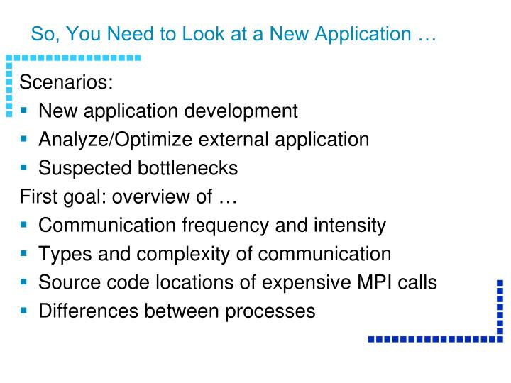 so you need to look at a new application n.