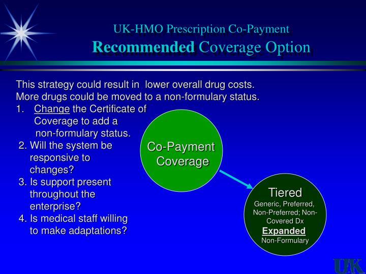 UK-HMO Prescription Co-Payment