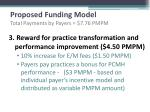 proposed funding model total payments by payers 7 76 pmpm2