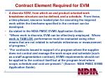 contract element required for evm