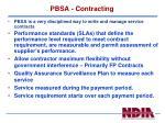 pbsa contracting
