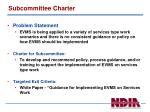 subcommittee charter