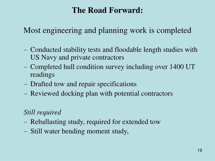 The Road Forward: