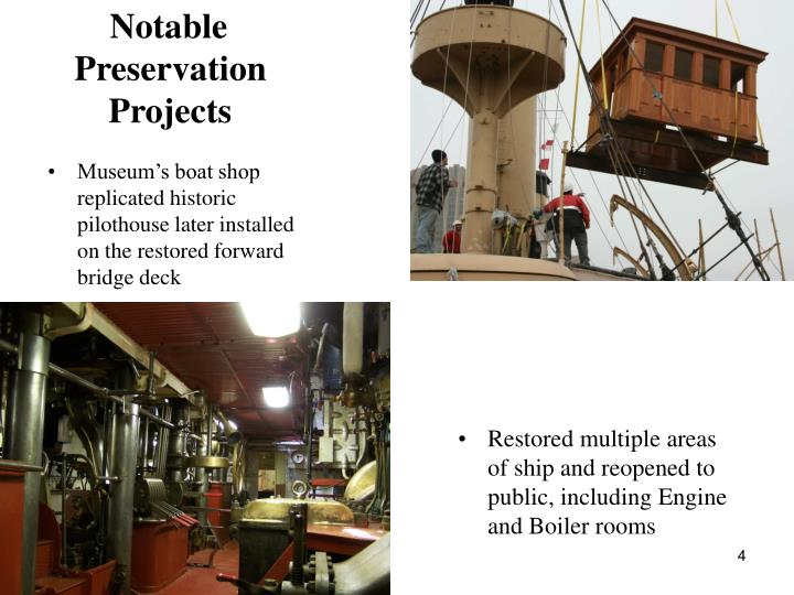 Notable Preservation Projects