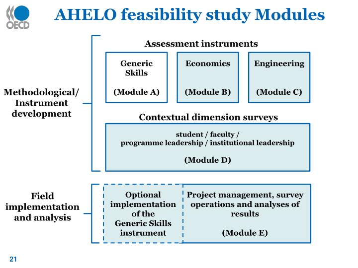 AHELO feasibility study Modules