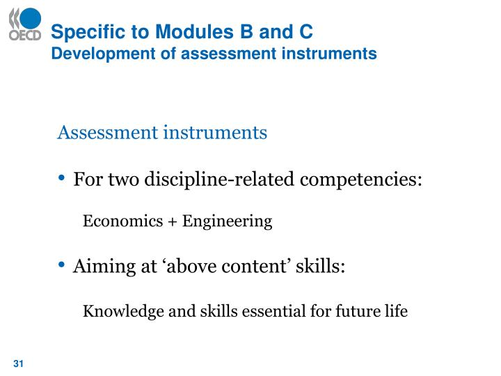Specific to Modules B and C