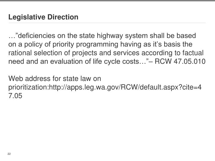 Legislative Direction
