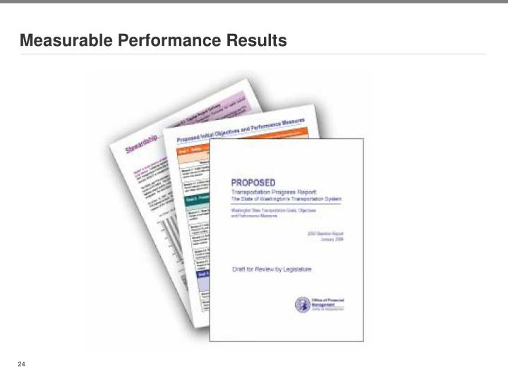 Measurable Performance Results