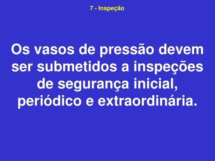 7 - Inspeção